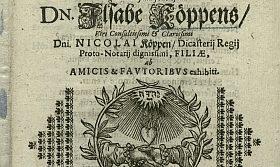 Bild: Nicolaus Köppen, Sales nuptiales, 1647. Greifswald, UB, 544/VP 90-1