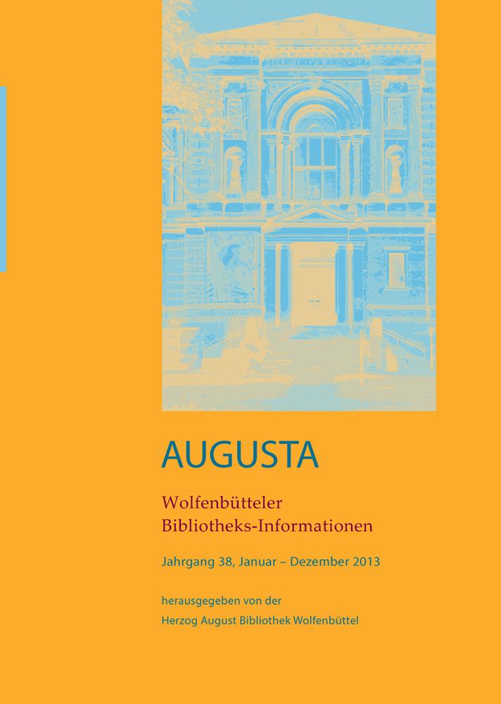 Wolfenbütteler Bibliotheks-Informationen 38/2013