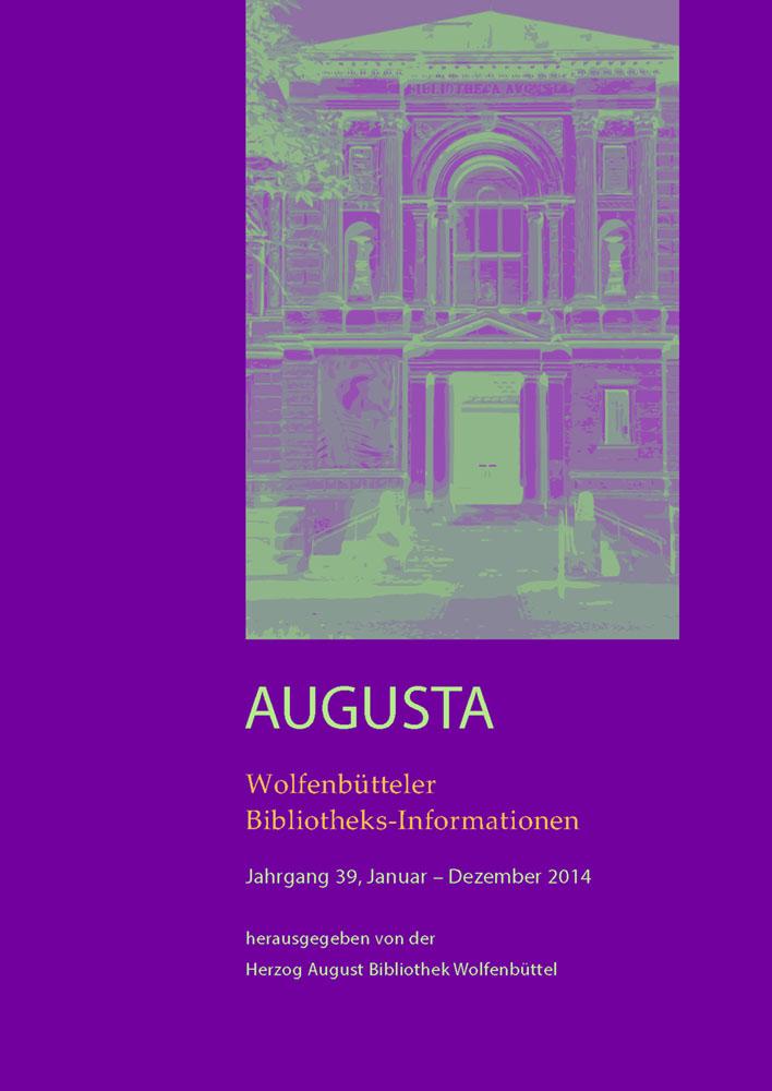 Wolfenbütteler Bibliotheks-Informationen 39/2014
