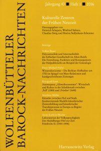 Wolfenbütteler Barock-Nachrichten 1/2016